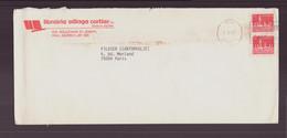 """Canada, Enveloppe à En-tête """" Librairie Village Cartier """" Du 2 Septembre 1987 De Hull Pour Paris - Cartas"""