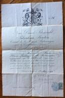 PASSAPORTO INGLESE CONB FIRMA AUTOGRAFA  DI P. BARTON  - COMPLETO DI TIMBRO E FIRMA CONSOLARE  DEL 15 MAGGIO 1895 - Marcophilia