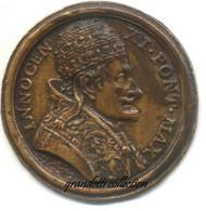 BEATO INNOCENZO XI RARA MEDAGLIA PLACCA UNIFACE HAMERANI - Royal/Of Nobility
