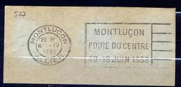 Lil3AH18 MONTLUCON (03) FLIER MON527 Foire Du Centre ..../ Fragment 06/04/33 - Mechanische Stempels (reclame)