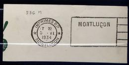 Lil3AH19 MONTLUCON (03) FLIER MON536 Montluçon..../ Fragment 05/06/34 RARE - Mechanische Stempels (reclame)