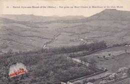 Saint-Cyr-au-Mont-D'or, Rhône, Vue Prise Au Mont Cindre Le Monthoux Et Les Trois Monts, Champs, Maisons, 1913 - Altri Comuni
