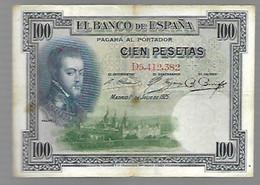 Espagne Philippe II - 100 Pesetas