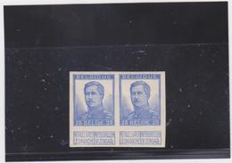 Belgie Nr 120 Ongetand (x2) (NIET VERMELD IN CATALOGUS !!) - 1912 Pellens