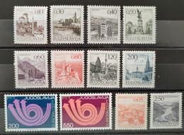 YOUGOSLAVIE - 1971/1973 - 12 Valeurs ** (voir Détail Et Scan) - Neufs