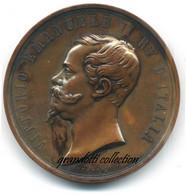 ESPOSIZIONE ITALIANA FIRENZE 1861 RARA MEDAGLIA REGNO VARIANTE OTTONE - Royal/Of Nobility