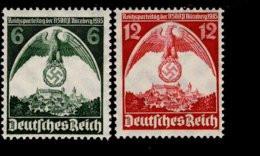 Deutsches Reich 586 - 587 Reichsparteitag MNH Postfrisch ** Neuf - Nuevos
