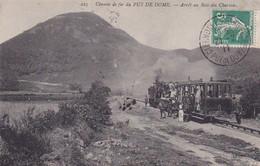 Chemin De Fer Du Puy-de-Dôme, Arrêt Au Bois Des Charmes, Train à Vapeur, Wagon, Animée, Montagne, Rails - Altri Comuni