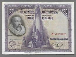 Espagne Cervantes - 100 Pesetas