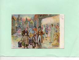 H0705 - Carte Postale à Talon Prime - Illustrateur - Bal Au Vieux Liége - - Other Illustrators