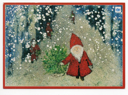 MODERN POSTCARD - UNICEF - FINLAND - CHRISTMAS - GNOME  - CHRISTMAS TREE - USED 1999 - Unclassified