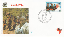 OUGANDA 1993 VISITE PAPE JEAN PAUL II - Uganda (1962-...)