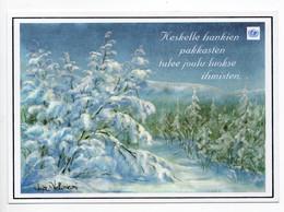 MODERN POSTCARD - UNICEF - FINLAND - CHRISTMAS - WINTER LANDSCAPE - USED 2003 - Unclassified