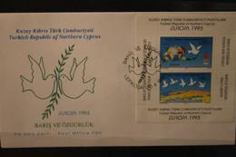 Zypern, Türk. Besetzt, Europa - CEPT 1995, FDC, MiNr. Block 14 - 1995