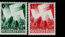 Deutsches Reich 632 - 633 Reichsparteitag  MNH Postfrisch ** Neuf - Nuevos