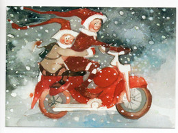 MODERN POSTCARD - UNICEF - FINLAND - CHRISTMAS - GNOMES ON MOTORBIKE - USED 2014 / NO STAMP - Unclassified