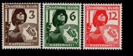 Deutsches Reich 643 - 645 Luftschutz MNH Postfrisch ** Neuf - Nuovi