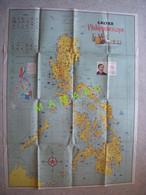 GRANDE AFFICHE - CARTE DES PHILIPPINES - 1961 - CALTEX PHILIPPINESCOPE - Geographical Maps