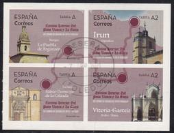 2021-ED. 5470 A 5473 - Camino Interior Del País Vasco Y La Rioja. CAMINOS DE SANTIAGO DEL NORTE PENINSULAR - USADO - 2011-... Used