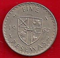 GHANA 5 PESEWA - 1967 - Ghana