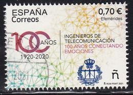 2021-ED. 5480 - Efemérides. 100 Años (1920-2020) Ingenieros De Telecomunicación - USADO - 2011-... Used