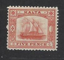 Malta - 1899 - Nuovo/new MH - Ship - Mi N. 12 - Malta (...-1964)