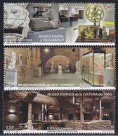 2021-ED. 5466 A 5468- MUSEOS Museo Postal Y Telegráfico, Nacional De Arte Romano Y Vivanco De La Cultura Del Vino -USADO - 2011-... Used