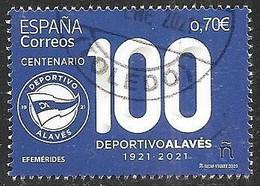 2021-ED. 5454 - Efemérides. Centenario Deportivo Alavés   -USADO - 2011-... Used