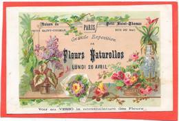 CHROMO Maison Du Petit Saint Thomas PARIS, Grande Exposition De FLEURS NATURELLES, Rue Du Bac - Unclassified