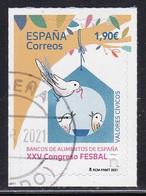 2021-ED. 5478 - Valores Cívicos. - Bancos De Alimentos De España. XXV Congreso FESBAL - USADO - 2011-... Used