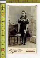 292 KL - VIEILLE PHOTO FLILLE COMUNION - OUDE FOTO MEISJE COMMUNIE - PHOTOGRAPHIE : G. LIEVENS COURTRAI - Antiche (ante 1900)