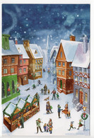 DOUBLE - MODERN CARD - UNICEF - CHRISTMAS - CHRISTMAS MARKET - USED ( BIG SIZE) - Unclassified