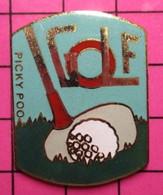 1116B Pin's Pins / Beau Et Rare / THEME : SPORTS / Grand Pin's GOLF PICKY POO - Golf