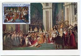 CAMEROUN CARTE MAXIMUM SACRE DE NAPOLEON 1er PAR LE PAPE PIE VII AVEC OBLITERATION DOUALA ?-?-69 - Napoleon