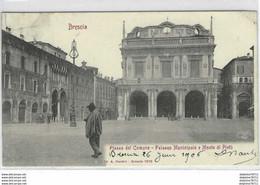 Brescia-Piazza Del Comune-Palazzo Municipale E Monte Di Pietà - Brescia