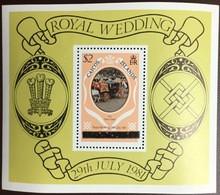 Caicos Islands 1981 Royal Wedding Upper Case Minisheet MNH - Turks And Caicos