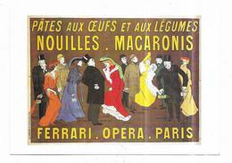 Pates Aux Oeufs Et Aux Légumes Nouilles Macaronis Ferrari Opéra Paris Illustrateur Cappiello Reproduction - Publicidad