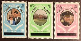 Caicos Islands 1981 Royal Wedding Upper Case MNH - Turks And Caicos