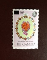 Gambia 1982 Royal Wedding Surcharge MNH - Gambia (1965-...)