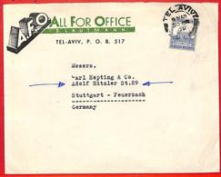 Aa2270 - PALESTINE - POSTAL HISTORY - COVER To GERMANY To A HITZLER St. 1939 - Palästina