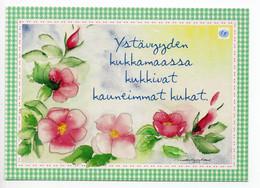 MODERN POSTCARD - UNICEF - POSTAL STATIONERY - FINLAND - FLOWERS - USED 2001 - Unclassified
