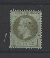 FRANCE. YT   N° 25  Oblitération   1870 - 1863-1870 Napoleon III With Laurels