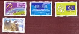 France Service 136/137 142/143 Conseil De L'europe Neuf ** TB MNH Sin Charnela Faciale 2.7 - Neufs