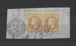 FRANCE. YT   N° 28  Oblitération   1868 - 1863-1870 Napoleon III With Laurels