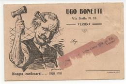 Cartolina Ugo Bonetti Verona Reti Metalliche Tele Per Letti Non Viaggiata - Reclame