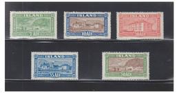 ISLANDE -- SERIE Views And Buildings -- FACIT N° 168 à 172 -- Trace Infime De Charnière -- - Unused Stamps