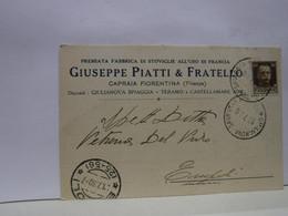 CAPRAIA   FIORENTINA  -- FIRENZE  --  GIUSEPPE  PIATTI  & FRATELLO   -- FEBBRICANTI DI STOVIGLIE - Firenze (Florence)