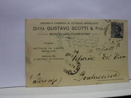 MONTELUPO   FIORENTINO  -- FIRENZE  --  DITTA GUSTAVO SCOTTI  &  FIGLI -- FABBRICA DI VETRERIE - Firenze (Florence)