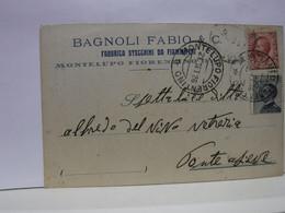 MONTELUPO   FIORENTINO  -- FIRENZE  -- BAGNOLI FABIO & C. FABBRICA DI STECCHINI DA FIAMMIFERI - Firenze (Florence)