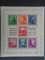 HONGRIE 1938 BLOC NEUF ** - 34e CONGRES EUCHARISTIQUE, BUDAPEST 25-29 MAI 1938 - Unused Stamps